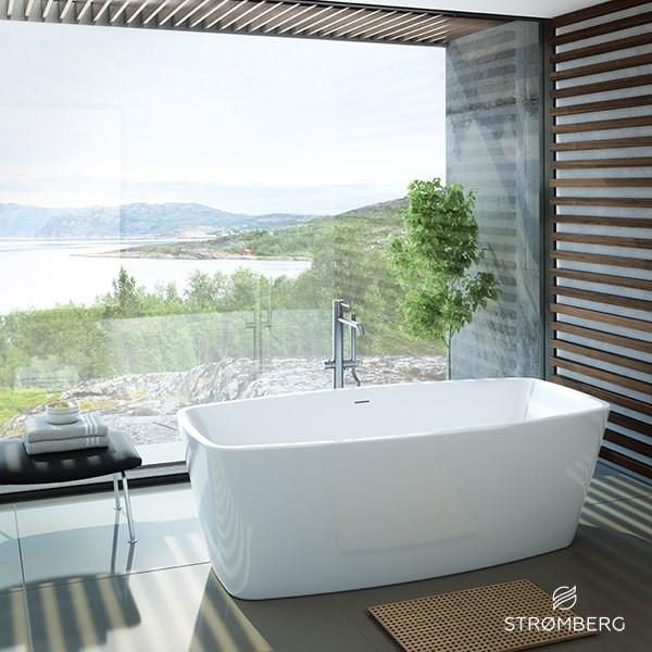 badekar 150x80 Se lille fritstående badekar, Alpha, 150 x 80 cm. 30 års garanti badekar 150x80