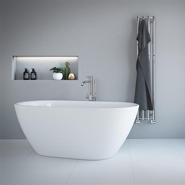 Se Strømbergs Caluso fritstående badekar 45 x 45 cm online her