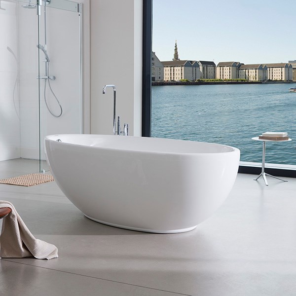 rundt badekar Smart Laguna fritstående badekar 185 X 95 cm fra Strømberg. Se online rundt badekar