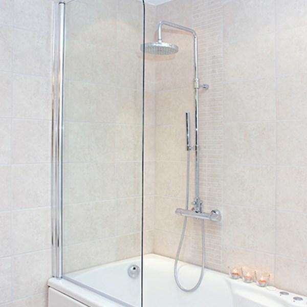 Fabelaktig Olten dusjvegg 1380x750mm til badekar YV-47